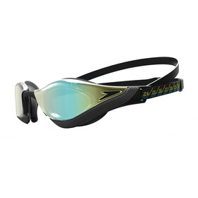 speedo Fastskin Pure Focus Mirror Okulary pływackie, black/cool grey/blue/gold